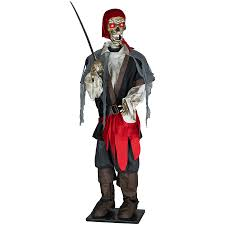 Lighted Halloween Costumes by Shop Gemmy 6 Ft Lifesize Musical Lighted Animated Pirate Table Top