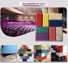 high density furniture pinboard polyester acoustic panel pet felt