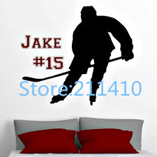 online get cheap number wall aliexpress alibaba group personalized hockey players vinyl wall decal with name and number stickers for kids room boys