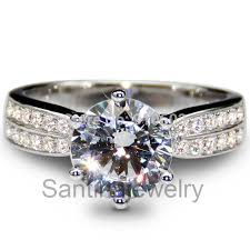 star rings silver images Diamond engagement ring center 2 carat simulate diamond star ring jpg