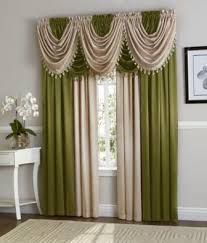 Green And Beige Curtains Curtains Window Treatments Hyatt Window Curtain Collection