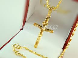 man gold cross necklace images Online shop african blacks 24k yellow gold plated necklace jpg