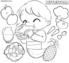 nutrition coloring pages to download and print of sheets we are