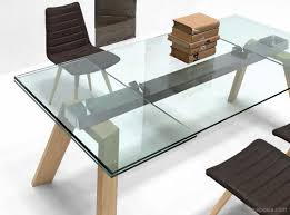 table en verre cuisine table verre et bois inspirations avec table de cuisine en verre avec