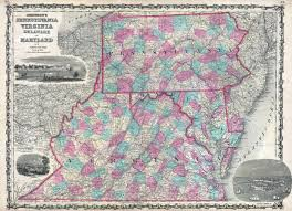 Va County Map Map Of Pennsylvania And Virginia Virginia Map