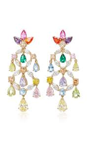 Ralph Lauren Chandelier Fashion Earrings Moda Operandi M U0027o Exclusive Rainbow Chandelier Earrings By Anabela