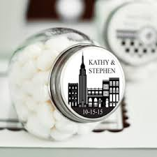 Nyc Wedding Favors by New York Personalized Mini Jar New York Wedding Favors