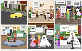 a unicef halloween storyboard by fivesonthefly