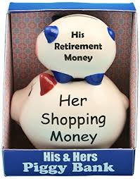 his and hers piggy bank fashioncraft his and hers piggy bank home kitchen