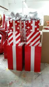 large fiberglass christmas gift boxes decorations holiday gift
