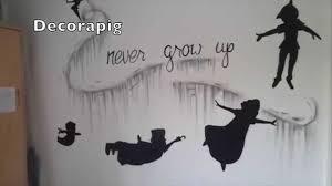 graffiti mural never grow up peter pan neverland youtube graffiti mural never grow up peter pan neverland