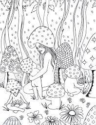 spirit u0026 sol mushroom magic coloring page