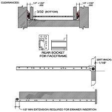 Kitchen Cabinet Drawer Guides Amazonom 14 Accuride 3732 Full Extension Drawer Slides Kitchen