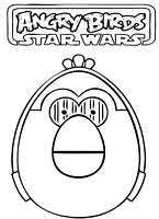 printable angry birds star wars luke coloring pages kids free