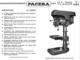 pacera drills 1940s 1950s