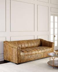 Old Hickory Tannery Chaise Old Hickory Tannery Handcrafted Tufted Sofa Neiman Marcus
