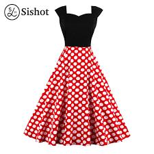 aliexpress com buy sishot women retro dress 2017 summer red