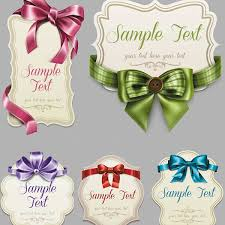 decorative ribbons vector vintage labels with decorative ribbons and bows