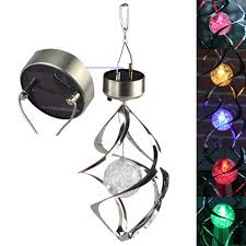 wind spinners with led lights solar powered led l wind spinner with color changing led solar
