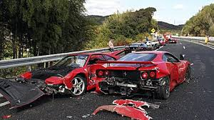 most expensive car lamborghini the s most expensive car crash ferraris mercedes and a