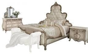 aico platine de royale panel antique platinum bedroom set