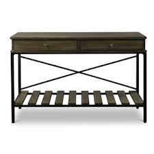 Metal Console Table Baxton Studio Newcastle Wood And Metal Console Table U2014criss Cross