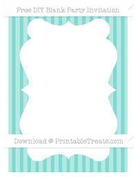 Blank Invitations Free Tiffany Blue Striped Blank Invitation U2014 Printable Treats Com