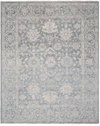 Safavieh Reflection Shine Rug Safavieh Oushak Aguas Knotted Wool Blue Area Rug Perigold