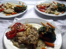 cuisine aile de raie au four recette d ailes de raie au four et ses légumes à l étuvée