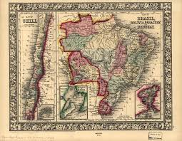 Map Of Uruguay Map Of Brazil Bolivia Paraguay And Uruguay Map Of Chili