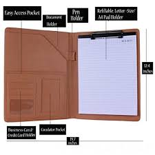Resume Padfolio Leather Vintage Notebook Presentation Padfolio Portfolio Resume