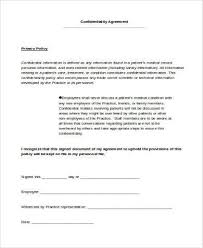 confidentiality agreement form samples 9 free documents in word