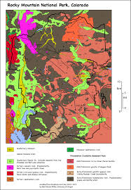 Colorado Mountains Map by Geologic Map Of Rocky Mountain National Park Colorado