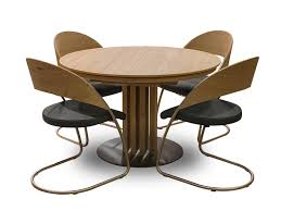 for sale round dining table venjakob round dining table and 4 curve dining chairs furniture