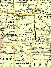 kbcc map maps of marion county ga