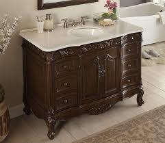 48 inch bathroom vanity traditional style dark brown color 48