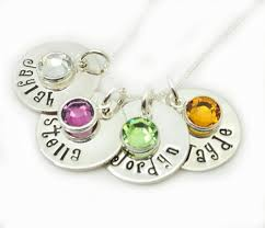 children s birthstone necklace personalized birthstone necklace sted mothers gift kids