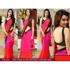 Buy Samantha Bollywood Replica Green Buy Samantha Pink Chiffon Bollywood Style Saree Online Looksgud In