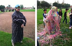 silly string successful fundraiser at vista middle school has silly
