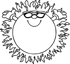 fire summer sun coloring page wecoloringpage