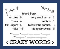 solving equations and inequalities worksheets and word problems
