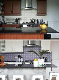 plaque autocollante cuisine credence autocollante pour cuisine avant apras relooking cuisine