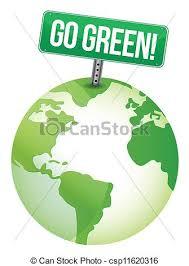 design logo go green go green sign illustration design over a white background vector