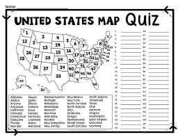 usa map states worksheet usa map geography quiz usa map states and capitals quiz lively us