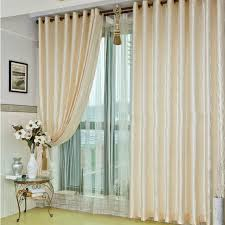 Ivory Linen Curtains Decorations Bedroom Fiber And Linen Geometrical Ivory Curtains