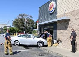 car crashes into falmouth burger king news capecodtimes com