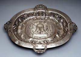engraved silver platter the museum collection presentation tray lord mayor s tray