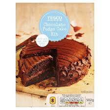 tesco chocolate fudge cake kit 502g groceries tesco groceries