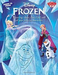 learn draw disney u0027s frozen featuring anna elsa olaf