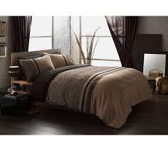 buy collection embroidered black animal print bedding set king